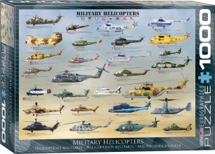 Eur-6000-0088,Puzzel military helicopters eurographics - 1000 stuks